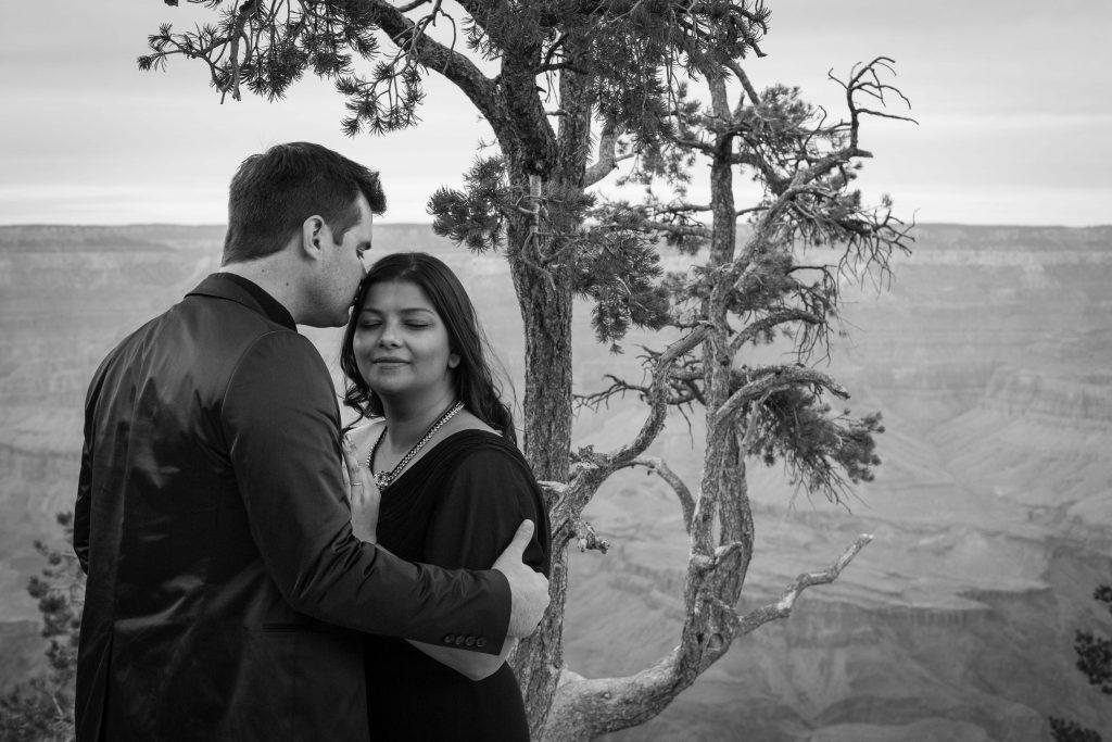 séance destination, photo de couple à Grand Canyon