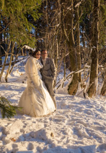 Se marier en hiver, photographe Megève