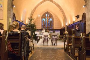 A l'église de Cluses en Haute Savoie