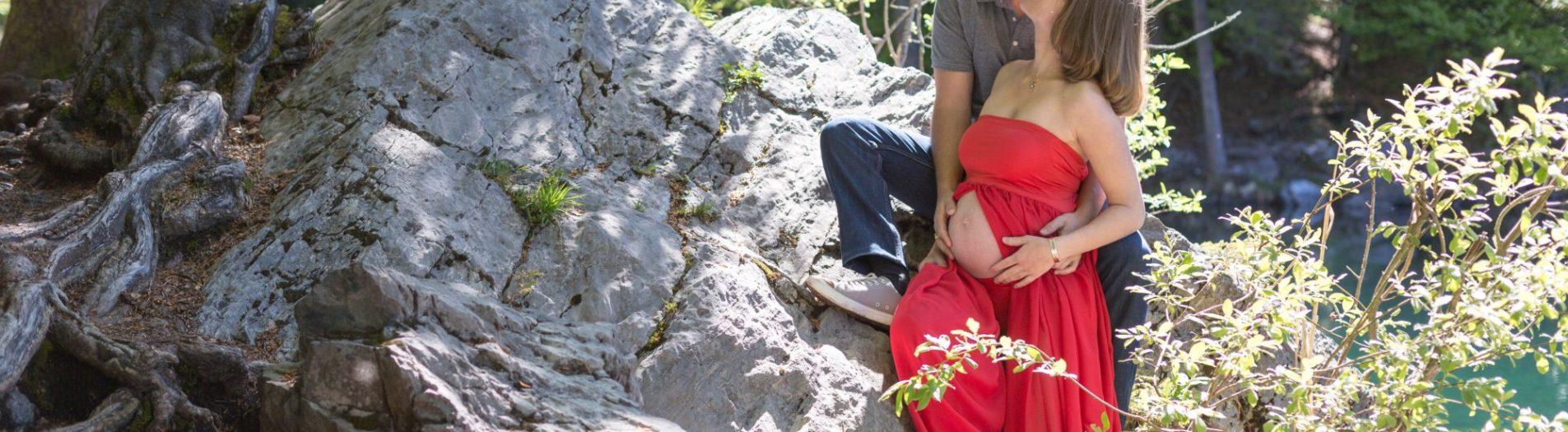 Séance grossesse au pays du Mont Blanc