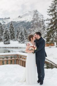mariage hiver au pays du Mont Blanc
