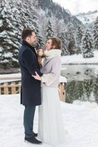 mariage en hiver aux Contamines Montjoie