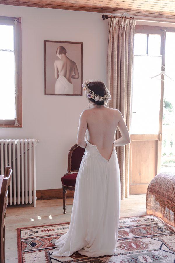 préparatifs de la mariée, mariage aux Contamines Montjoie