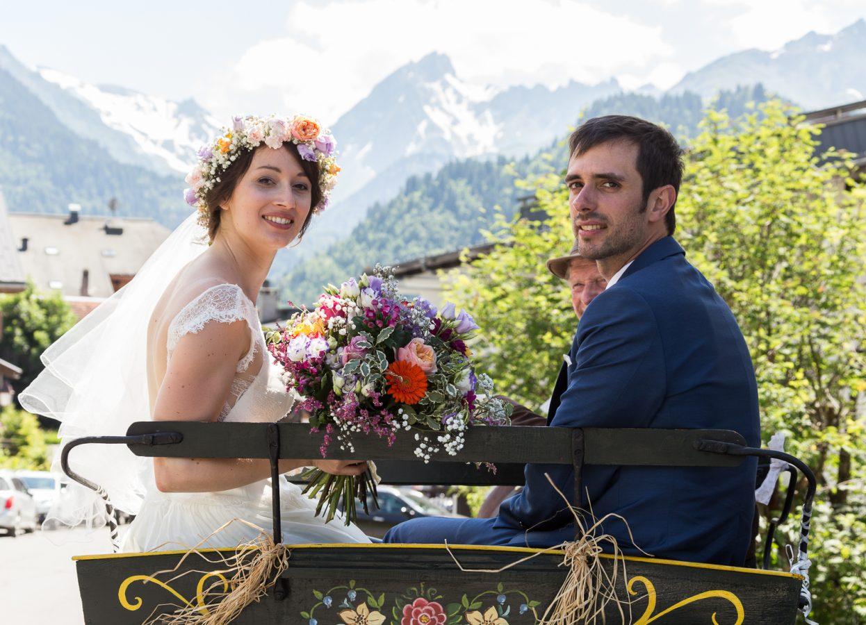 photo mariage aux Contamines Montjoie
