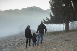 Le Mont Blanc sort des nuages à Cordon