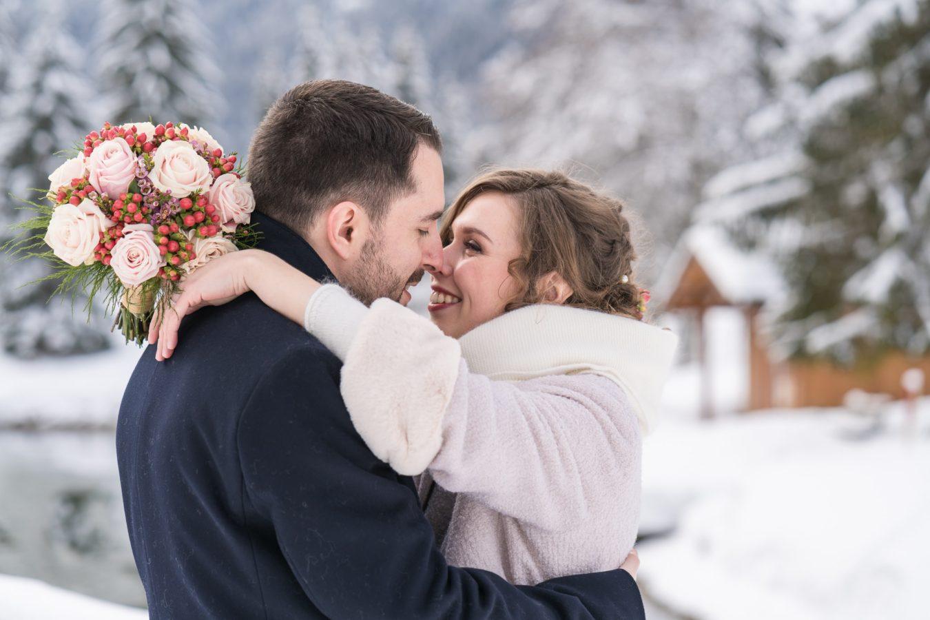 mariage à Saint Gervais en hiver
