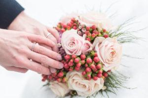 bouquet de mariée d'hiver
