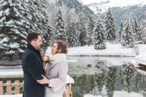 mariage hiver en montagne