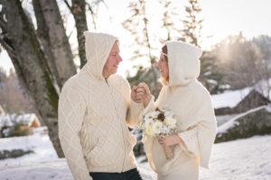 mariage d'hiver à Combloux