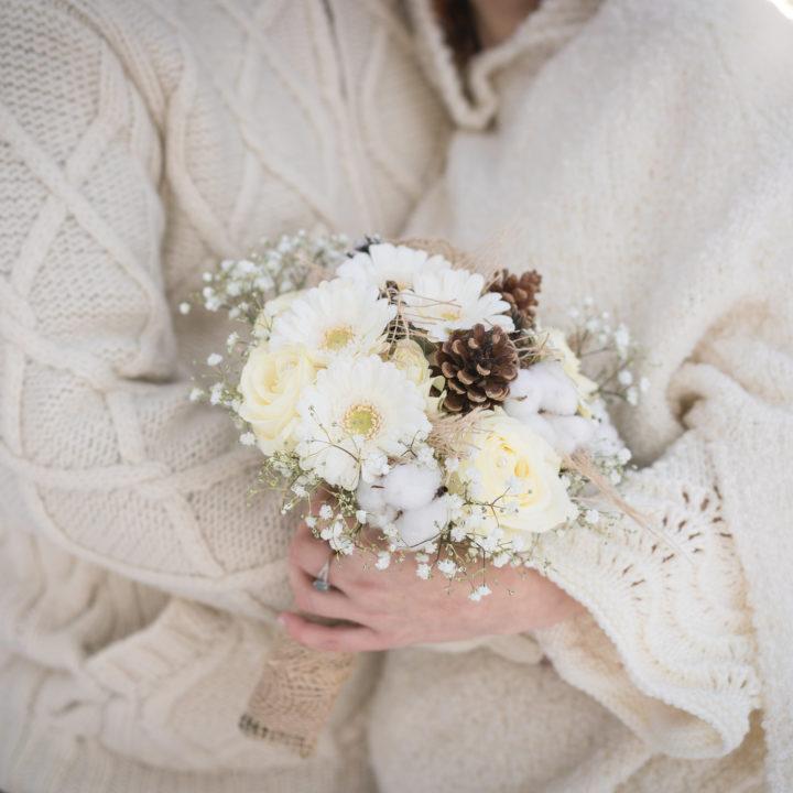 Mariage à Combloux en hiver