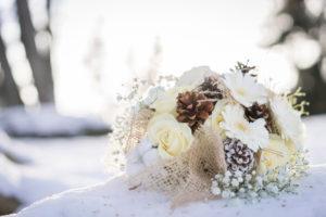 se marier en hiver à la montagne